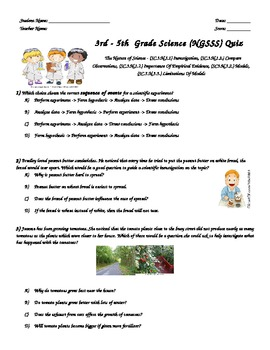 photograph about Printable Scientific Method Quiz known as 3rd - 5th Quality Science (NGSSS) Quiz- Medical Approach-Mother nature of Science