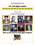 3rd- 5th Grade U.S.A. Civil Rights Leaders for Gifted and Talented Students