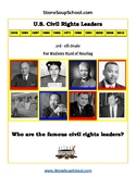 3rd- 5th Grade U.S. Civil Rights Leaders for Students Hard of Hearing