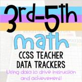 3rd-5th Math Teacher Data Trackers