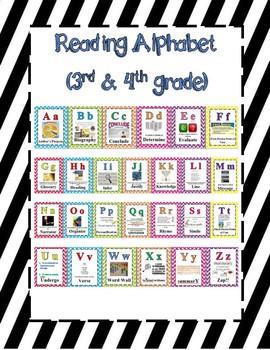 3rd - 5th Reading Alphabet Black Stripes