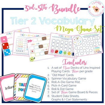 3rd - 5th Tier Two Vocabulary Mega Game Bundle