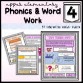 Reading Intervention for Upper Grade: Decoding Phonics Patterns - Anchor Charts