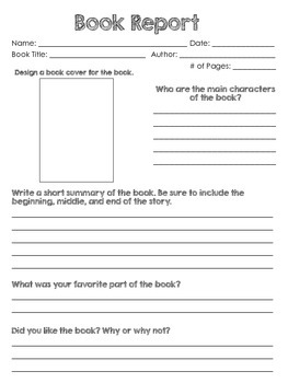 Book Report Write Up