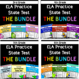 3rd-6th Grade ELA Practice State Test BUNDLE! - Distance Learning