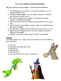 3rd-5th Grade English worksheets on using commas to add ex
