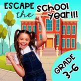 3rd - 6th Grade Math Review End of Year Escape Room Bundle