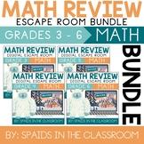 3rd - 6th Grade Winter Digital Escape Room Math Review DIS