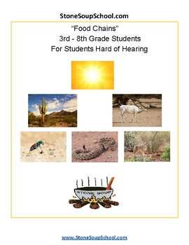 """3rd - 8th Grade """"Food Chains - Students with Hearing Impairments"""