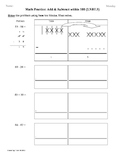 (3rd 9 Weeks) 2nd Grade Common Core Math Worksheets [BUNDLED]