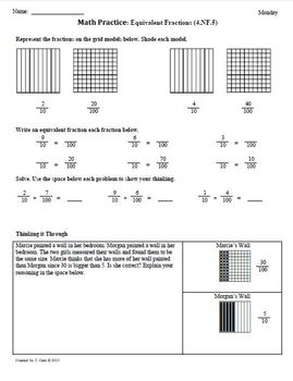 (3rd 9 Weeks) 4th Grade Common Core Math Worksheets [BUNDLED]