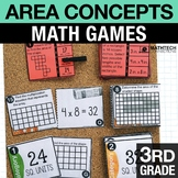3rd - Area Concepts Math Centers - Math Games