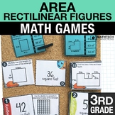 3rd - Area Concepts of Rectilinear Figures Math Centers - Math Games