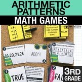 3rd - Arithmetic Patterns Math Centers - Math Games