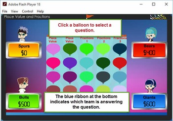 3rd Balloon Pop Module 2 –Fractions, Number and Operations – 2012 TEKS
