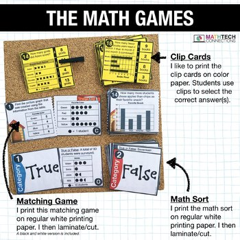 3rd - Bar Graphs and Picture Graphs Math Centers - Math Games