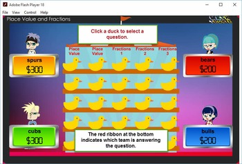 3rd Duck game Module 1 – Place Value and Fractions – 2012 TEKS/Common Core