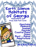 3rd Earth Science Georgia Habitats Assessment and Flash Cards