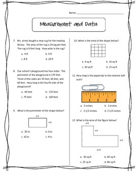 3rd End of Year Math Review