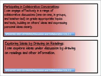 3rd GRADE ENGLISH LANGUAGE ARTS INDIANA STATE STANDARDS I CAN CARDS