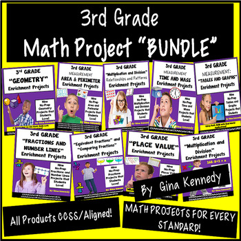3rd Grade Math Enrichment Projects! For the Entire Year!