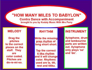HOW MANY MILES TO BABYLON-Dance-ti tika-pentatonic- Smartboad
