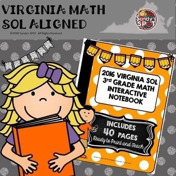3rd GRADE MATH VIRGINIA SOL INTERACTIVE NOTEBOOK