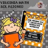 3rd GRADE MATH 2016 VIRGINIA SOL INTERACTIVE NOTEBOOK