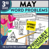 3rd GRADE MAY WORD PROBLEMS - 50% OFF 1ST 24 HOURS