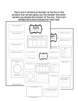3rd GRADE MORNING WORK BUNDLE