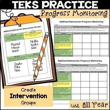 TEKS PRACTICE  3.4A 3.4B 3.5A 3.5E ~ ADDITION & SUBTRACTION ~ STAAR PREP