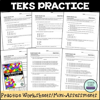 TEKS PRACTICE ~ PLACE VALUE 3.2A & 3.2B ~ STAAR Test-Prep