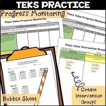 3rd Grade TEKS PRACTICE Place Value TEKS 3.2A 3.2B STAAR Progress Monitoring