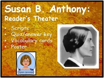 3rd Gr GPS Historical Figure Reader's Theater review for CRCT: Susan B. Anthony
