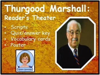 3rd Gr GPS Historical Figure Reader's Theater review for CRCT: Thurgood Marshall