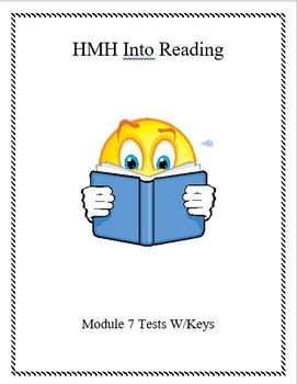 3rd Gr. HMH Into Reading Module 7 Tests w/keys (4 tests)