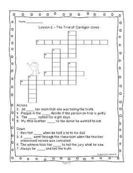 Third Grade Journeys 2012 Vocabulary Crossword & Word Search Puzzles Units 1-6