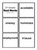 3rd Gr Root Words Flash Cards & Worksheets (Aligned to American Reading Co IRLA)