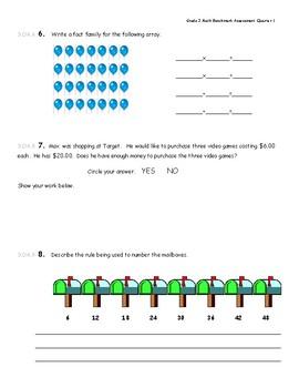 3rd Grade 1st Quarter Benchmark Assessment