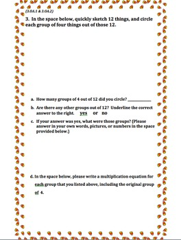 3rd Grade 1st Quarter Common Core Math Assessment (ANSWER KEY INCLUDED)