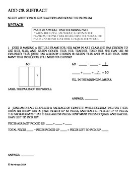 3rd Grade 2013 Math STAAR Release Test Re-teach or Review Packet