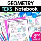 3rd Grade 2D and 3D Shapes - Geometry TEKS 3.6A 3.6B 3.6E