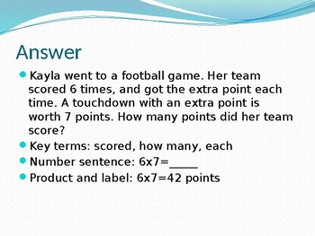 3rd Grade 3OA PowerPoint Math Multiply Divide Word Problem Review