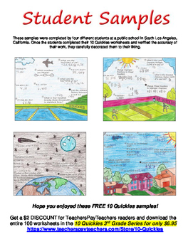 3rd Grade - 4 FREE Math Review Worksheets