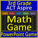 3rd Grade ACT Aspire Math Test Prep Review Game test practice