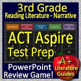 3rd Grade ACT Aspire Test Prep ELA Reading Literature and Narrative Review Game