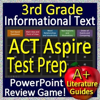 3rd Grade ACT Aspire Test Prep Reading Informational and Non-Fiction Review Game