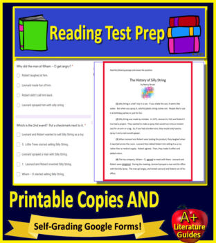 3rd Grade ACT Aspire Test Prep Reading Practice Tests -  Print AND Paperless!