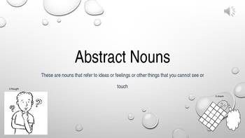 3rd Grade Abstract & Concrete Nouns Fun & Fit PowerPoint ~ ELA CCSS Language
