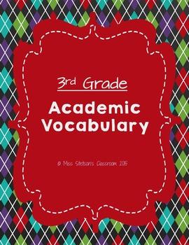 3rd Grade Academic Vocabulary